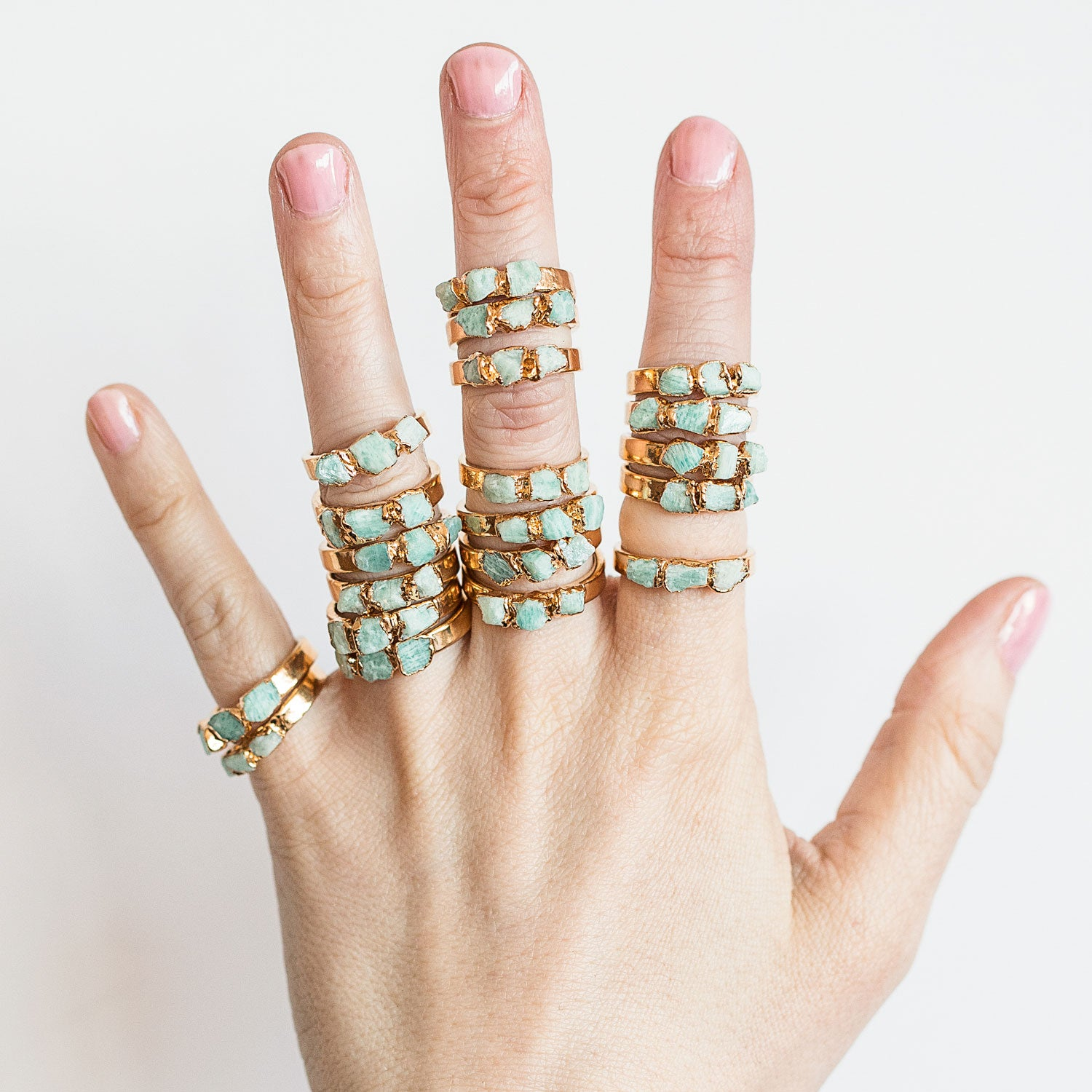 Lucky Crystal Jewelry Amazonite Ring