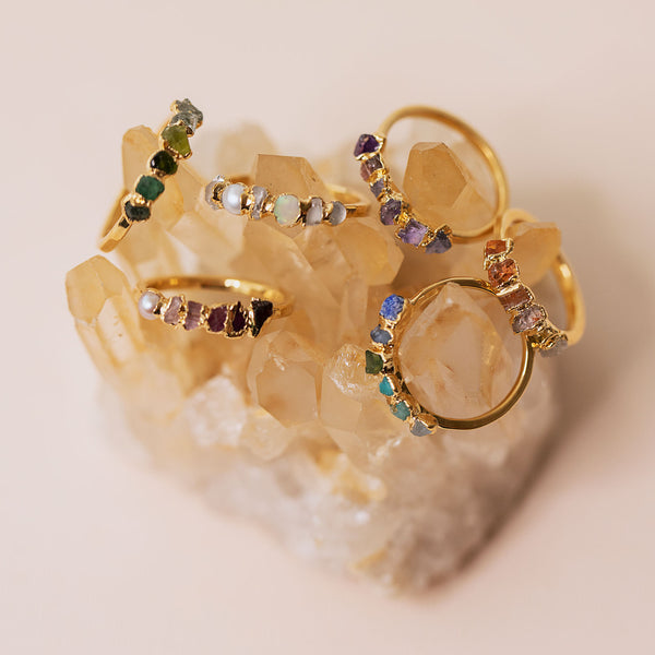 Ombre Birthstone Rings