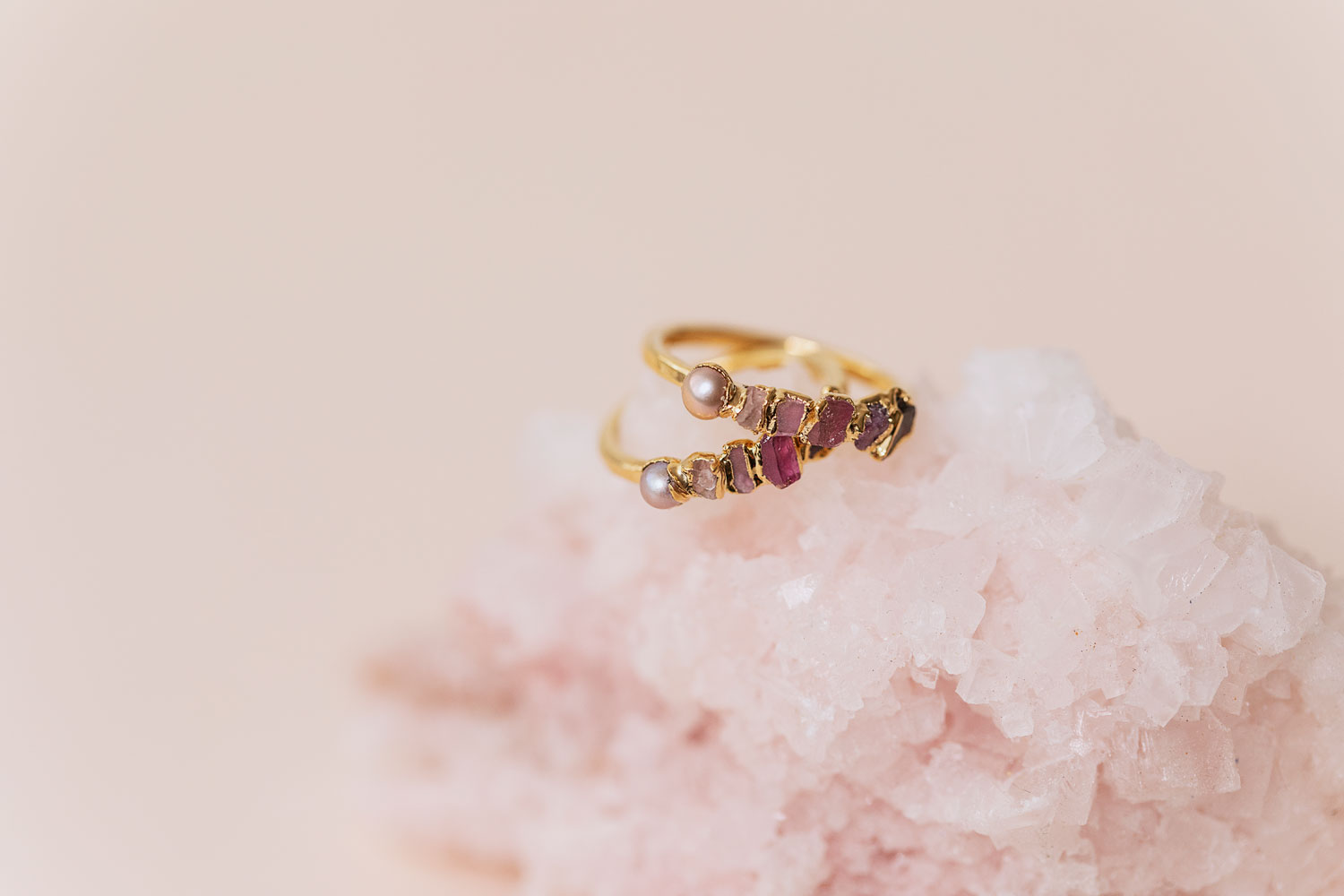 Pink Ombre Ring by Dani Barbe
