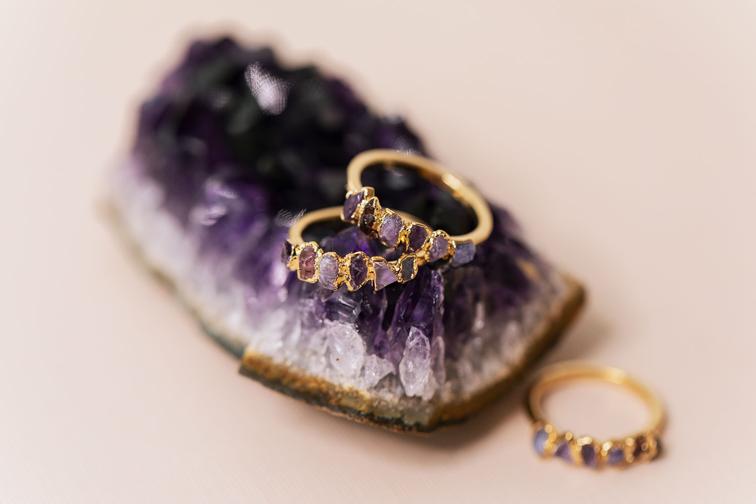 Purple Ombre Ring by Dani Barbe