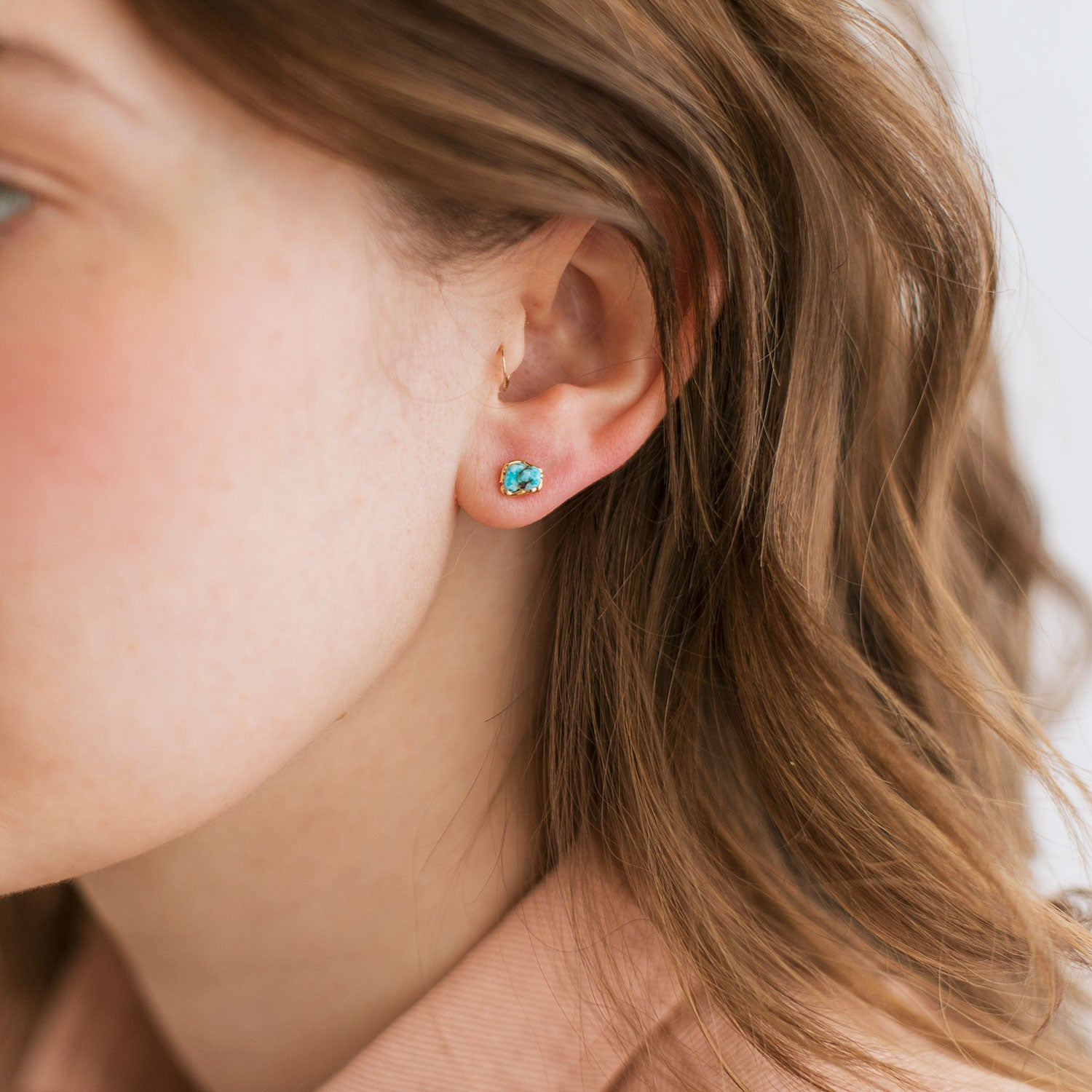 Turquoise Birthstone Earrings by Dani Barbe