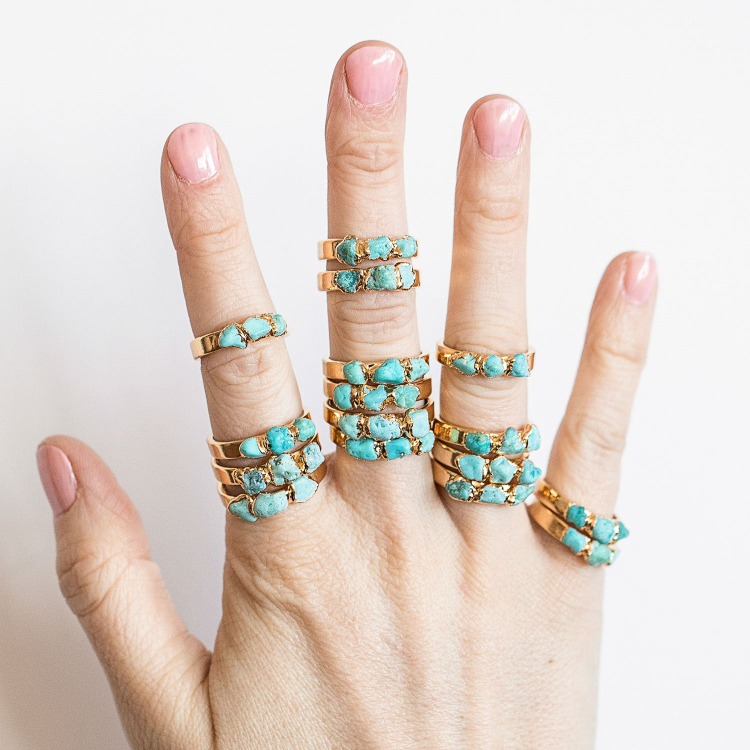Turquoise Stone Ring by Dani Barbe