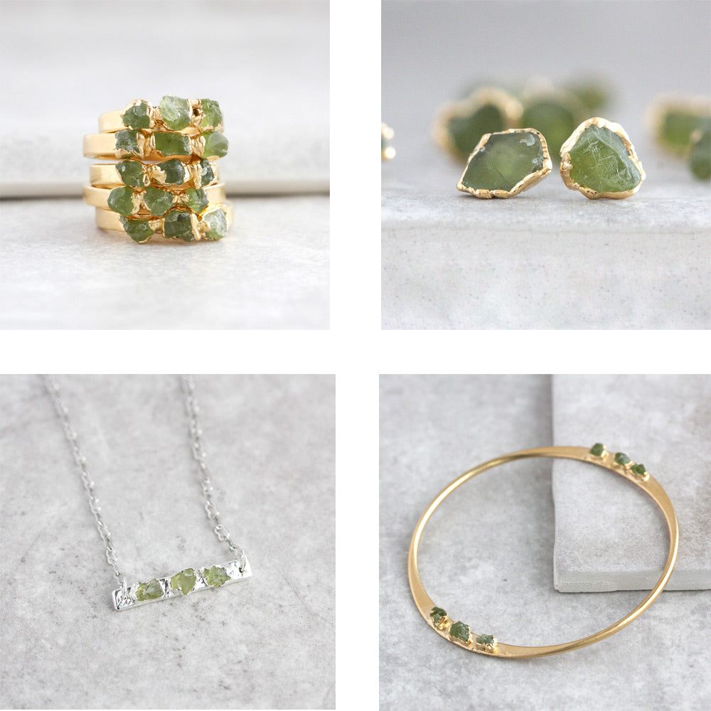 Dani Barbe Raw Peridot Birthstone Jewelry