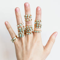 Amazonite Stacking Rings by Dani Barbe