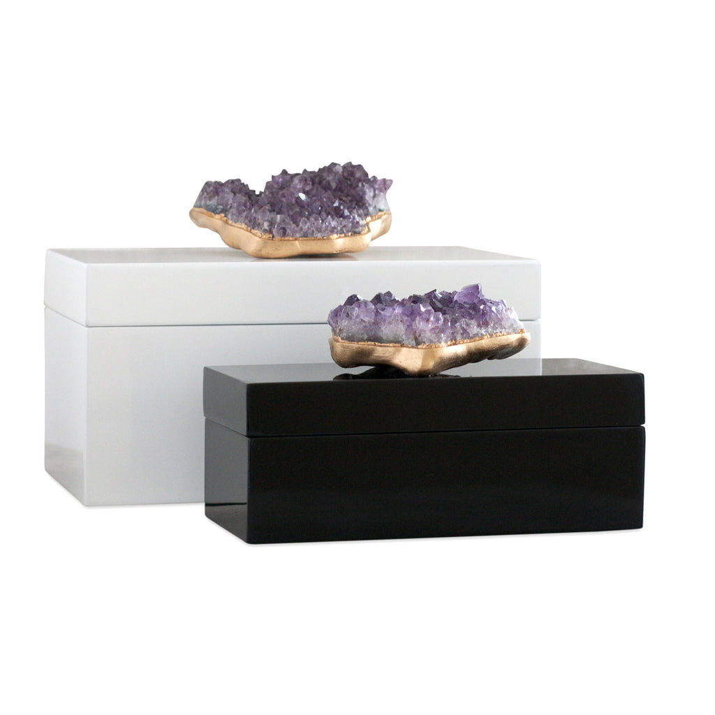 Dani Barbe Amethyst Gemstone Boxes