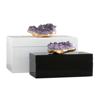 Amethyst Gemstone Box