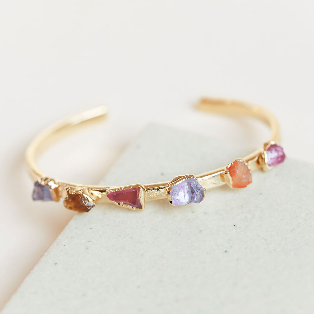 Amethyst, carnelian, pink tourmaline cuff - This is another updated classic, and it's so unique that it's currently a limited-edition piece!