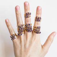 Amethyst Stacking Rings by Dani Barbe