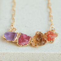 Citrine and pink tourmaline gemstone necklace by Dani Barbe