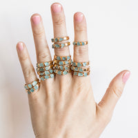 Raw Aquamarine Stone Ring by Dani Barbe