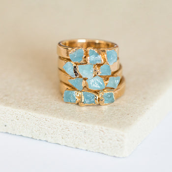 Aquamarine Stacking Ring