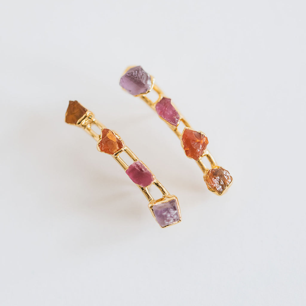 Carnelian, Lavender Amethyst, and Citrine Climbers by Dani Barbe