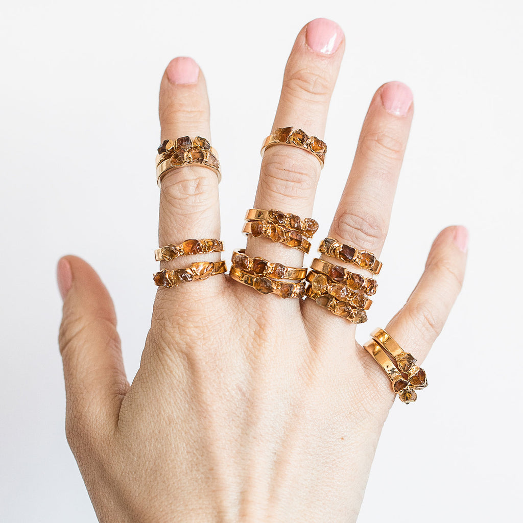 Citrine stacking ring is amazing for a November birthstone ring, or for anyone who loves the autumnal hues of the citrine gemstone.