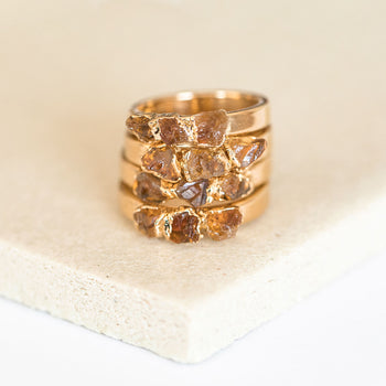 Citrine Stacking Ring