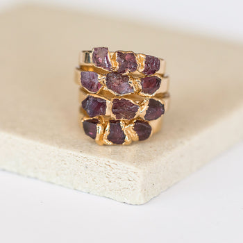 Garnet Stacking Ring