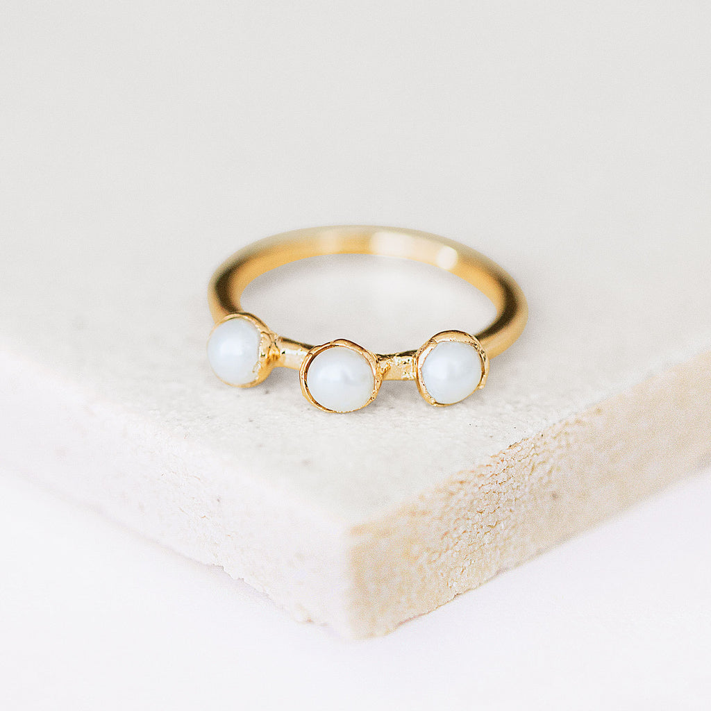 Genuine Pearl Ring by Dani Barbe