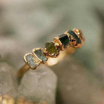 Green Ombré Birthstone Ring