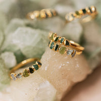 Green Ombre Ring by Dani Barbe