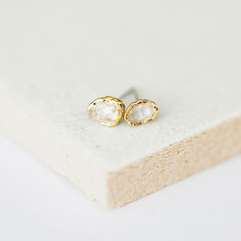 Herkimer Diamond Tiny Studs