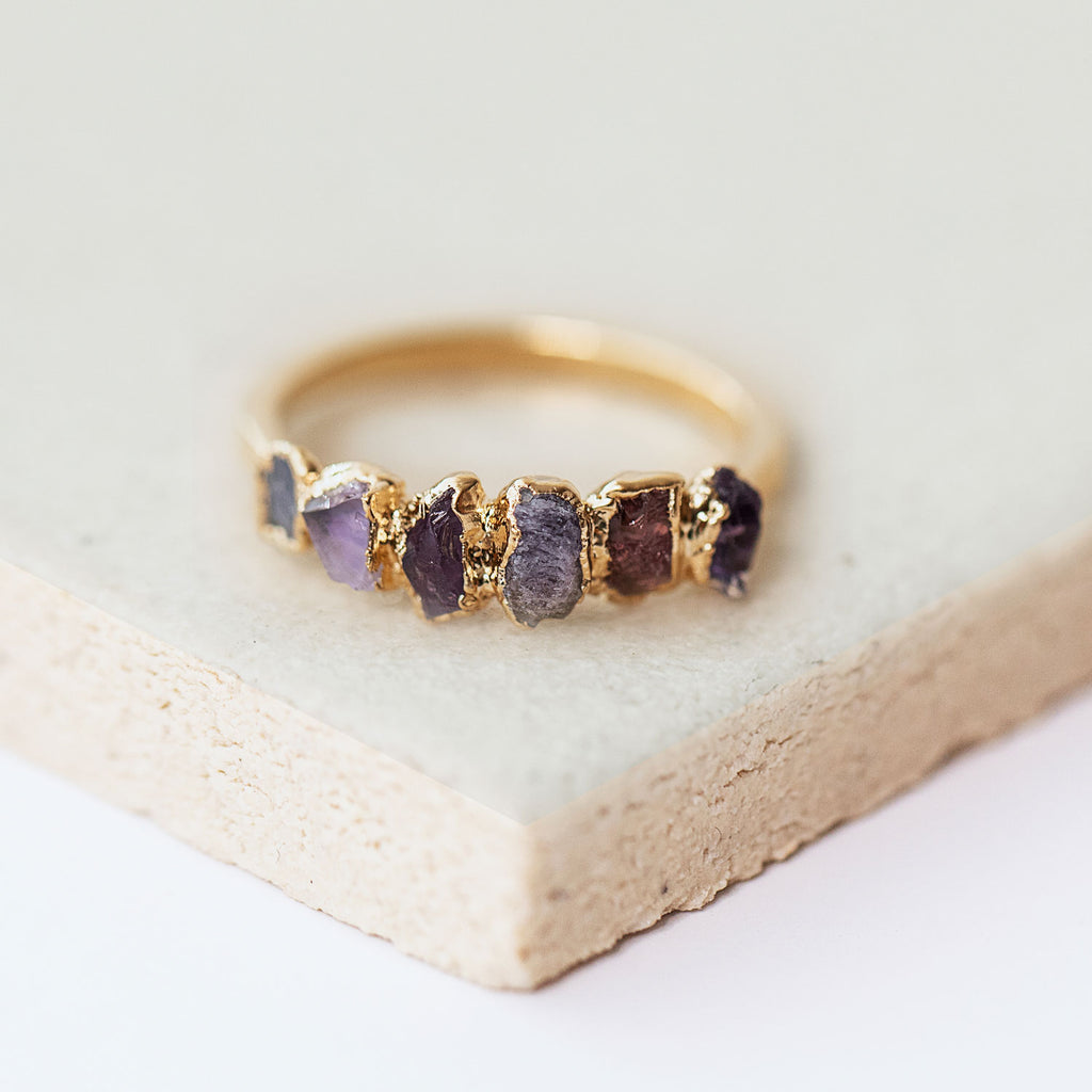 Ombre Birthstone Ring December by Dani Barbe