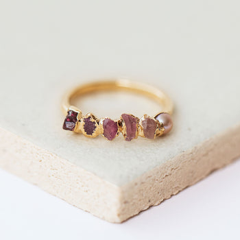 Pink Ombré Birthstone Ring