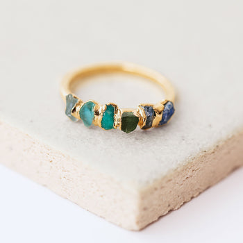 Blue Ombré Birthstone Ring