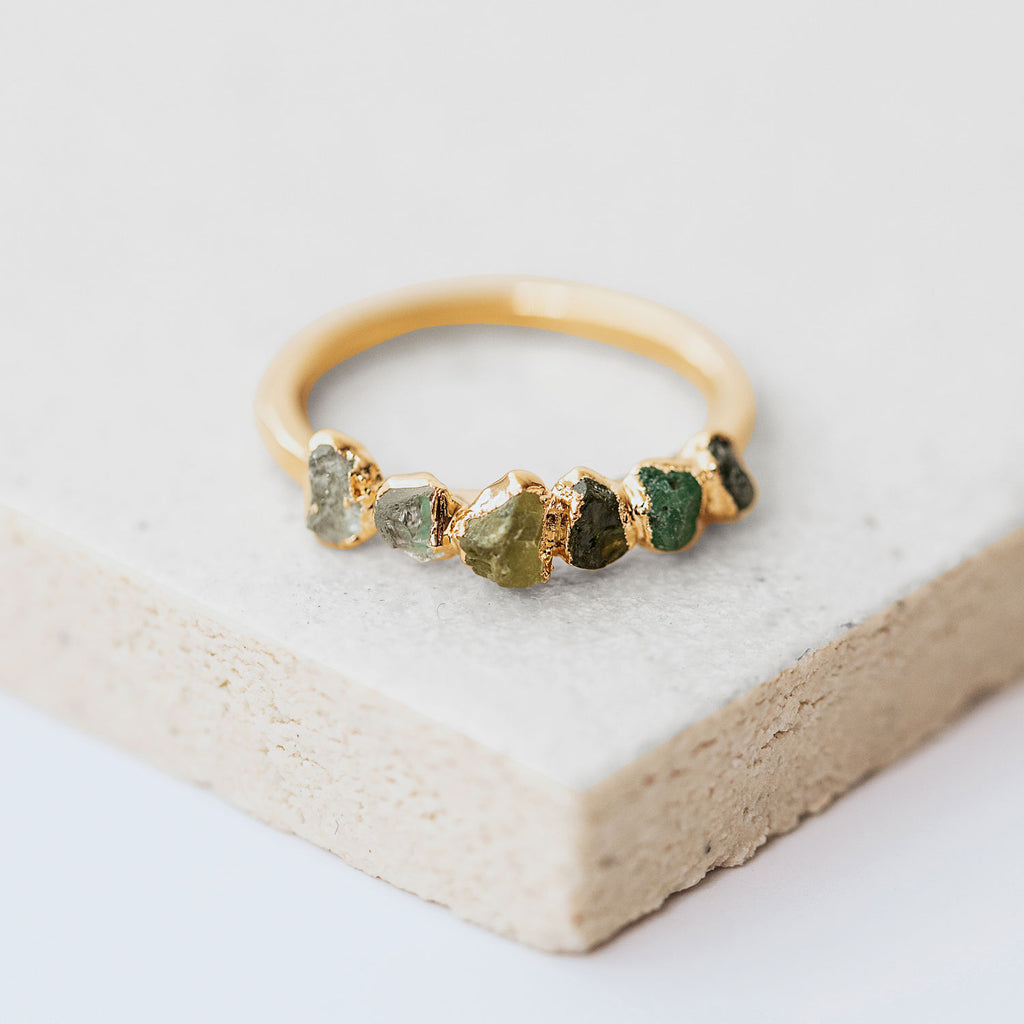 Ombre Birthstone Ring May by Dani Barbe