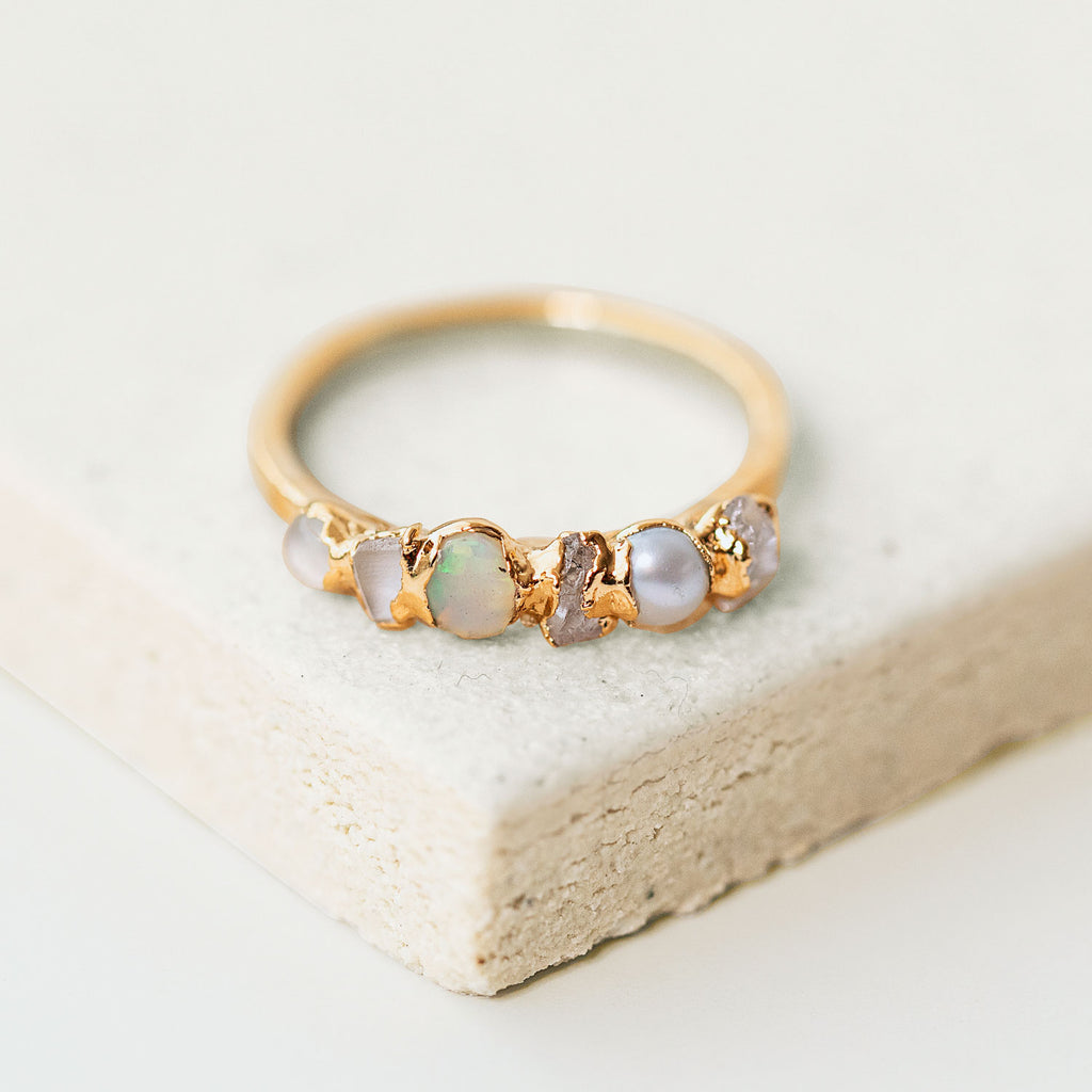 Ombre Birthstone Ring October by Dani Barbe