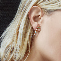 Raw Opal Ear Climbers by Dani Barbe