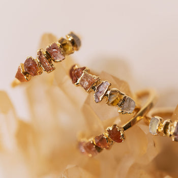 Orange Ombré Birthstone Ring
