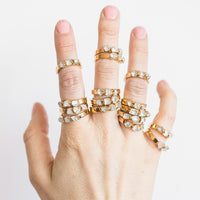 Quartz Stacking Rings by Dani Barbe