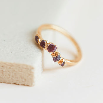 Ruby Curve Ring