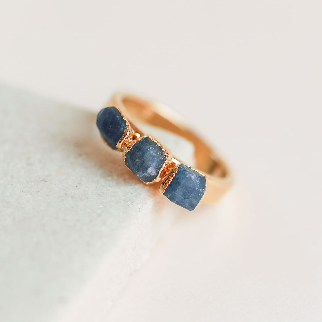 Raw Sapphire Stacking Ring by Dani Barbe