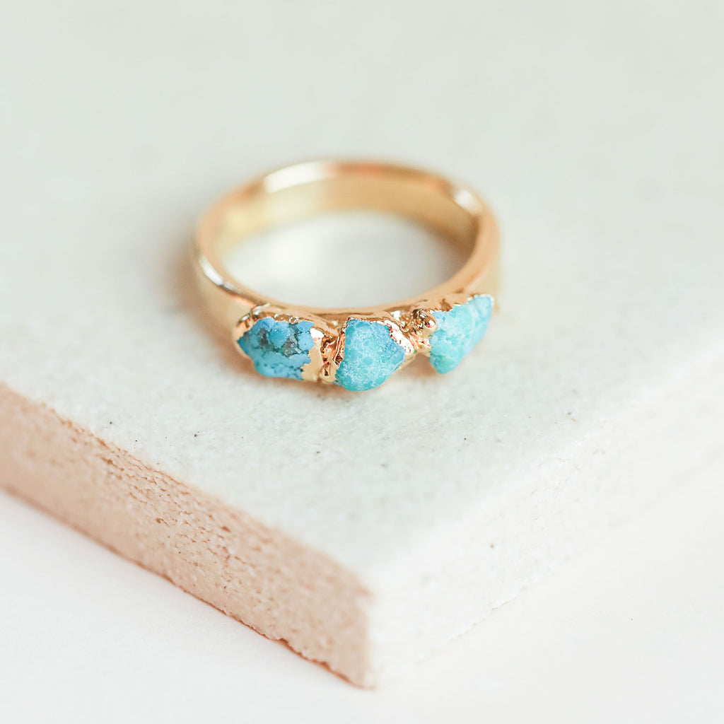 Genuine turquoise ring by Dani Barbe