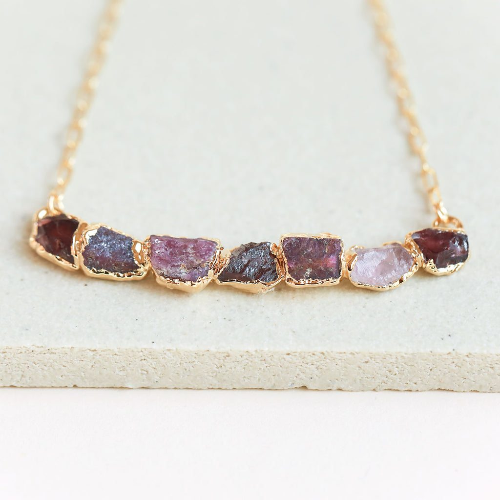 Ruby Curve Necklace for Sale | Order Ruby, Garnet, and
