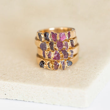 Ruby Garnet Spinel Stacking Ring