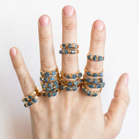Sapphire Stacking Ring by Dani Barbe