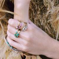Stackable Gemstone Rings