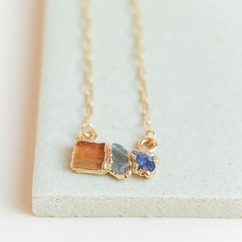 Topaz, Labradorite and Iolite Necklace - Ready to Ship