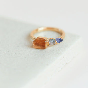 Topaz, Labradorite and Iolite Ring