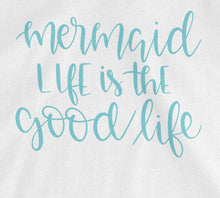 Mermaid Life is the Good Life Tank Top - White with Teal