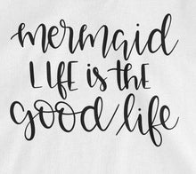 Mermaid Life is the Good Life Tank Top - White with Black