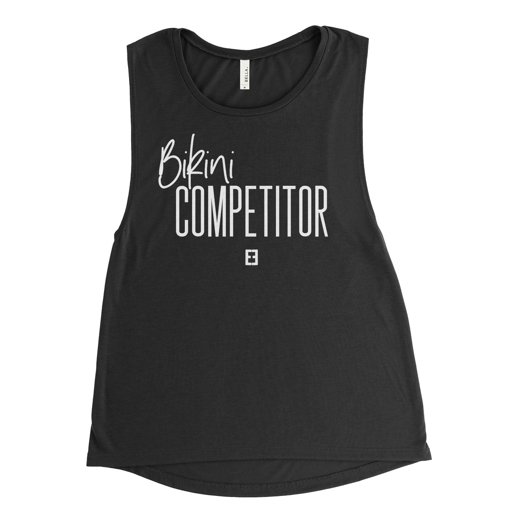 Bikini Competitor Muscle Tank Top - Black Tank *Donation Design