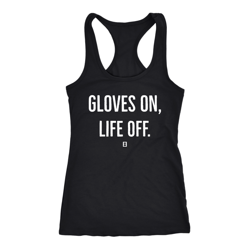Gloves On, Life Off Kickboxing Tank Top