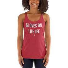 Kickboxing Women's Racerback Tank - Gloves on, Life off