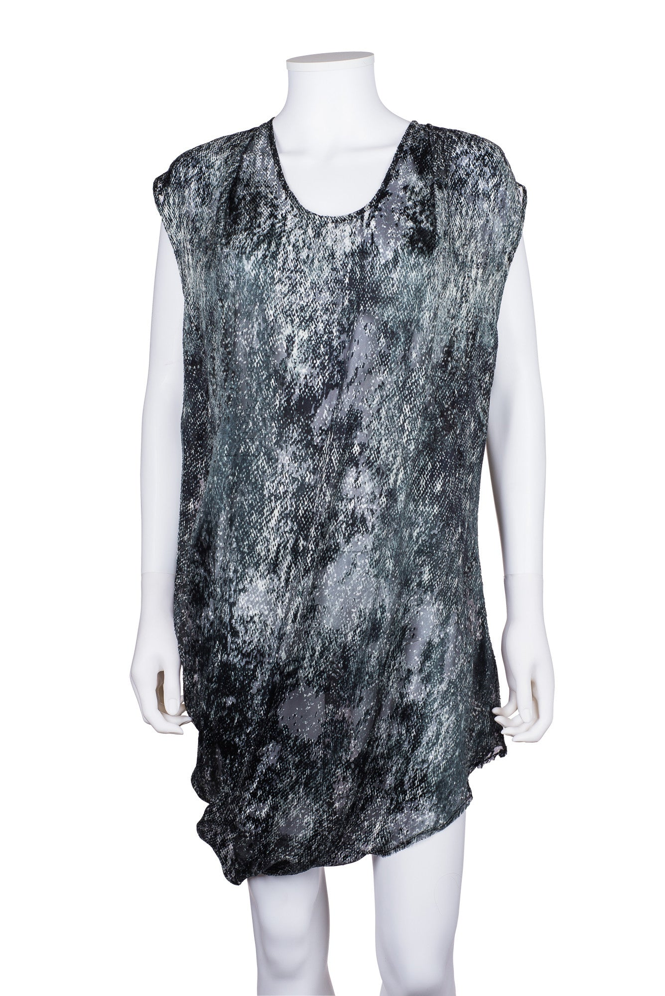 HELMUT LANG Asymmetrical Patterned Top
