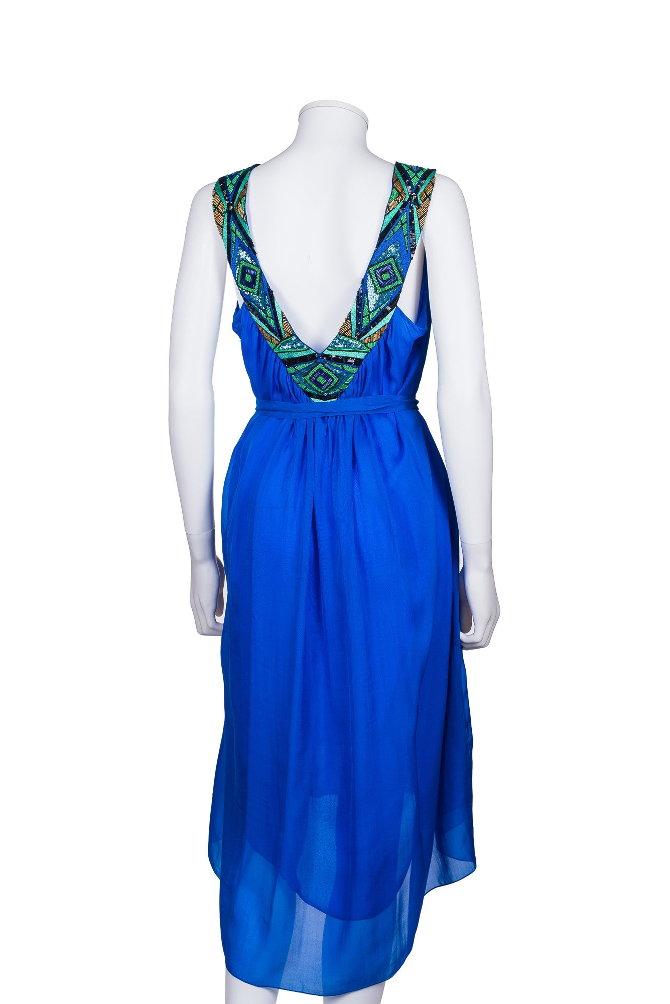 MATTHEW WILLIAMSON Sleeveless Embellished Dress