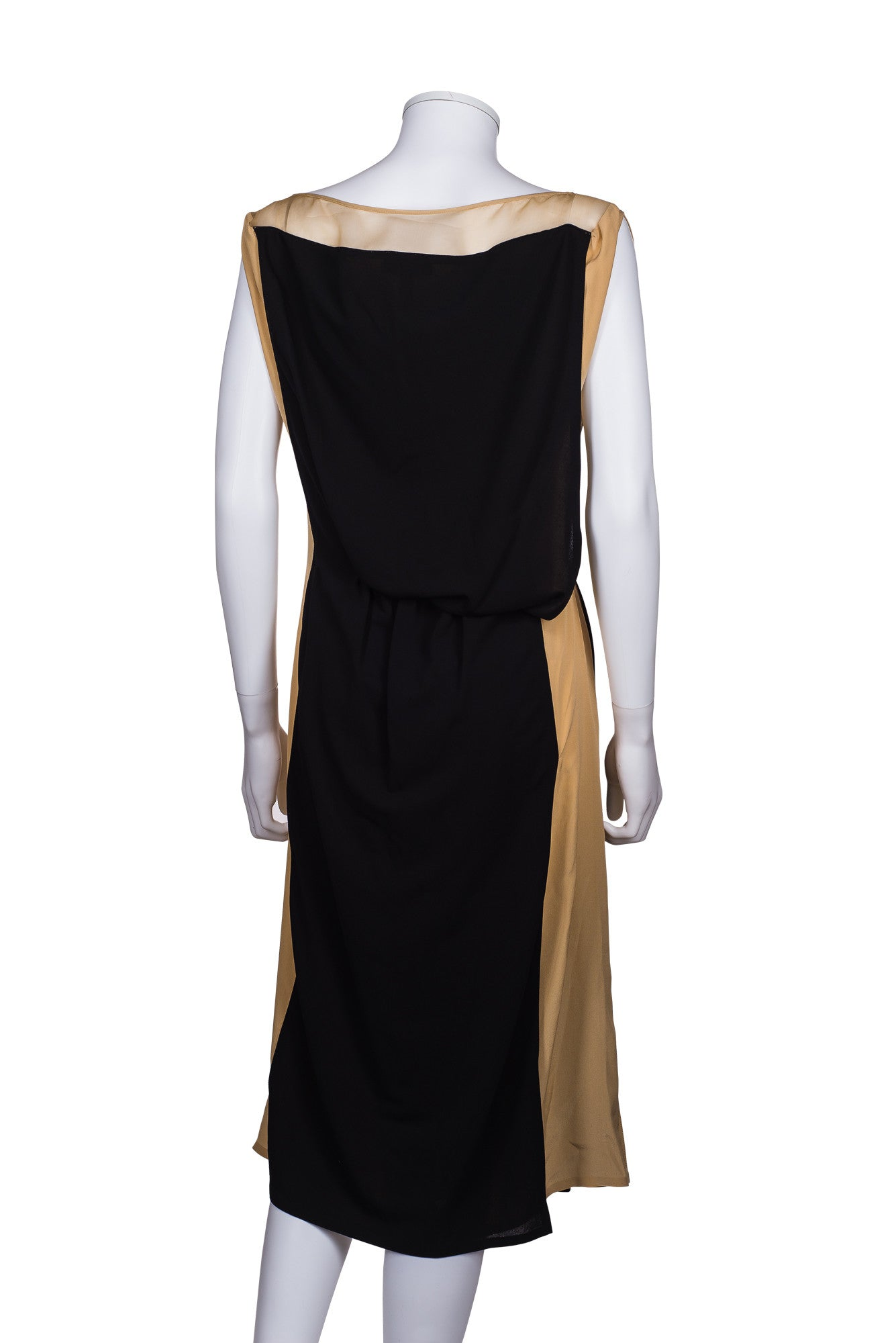 VIONNET Silk Trimmed Crepe Midi Dress