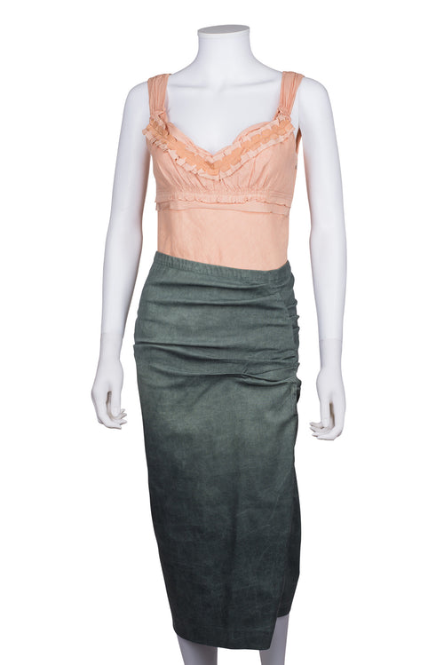 DONNA KARAN NEW YORK Long Fitted Skirt