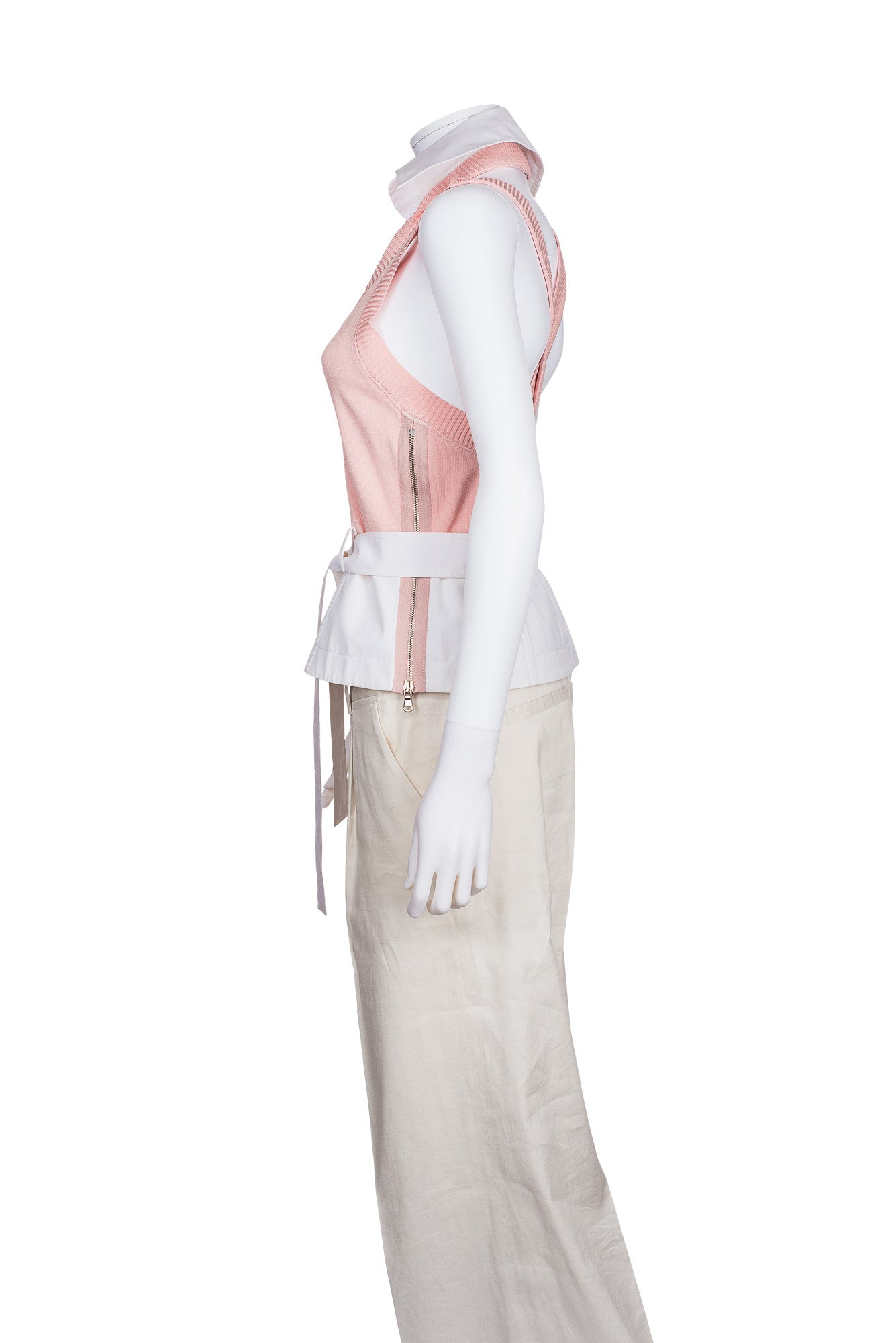 TOMASO STEFANELLI Sleeveless Top With Removable Collar